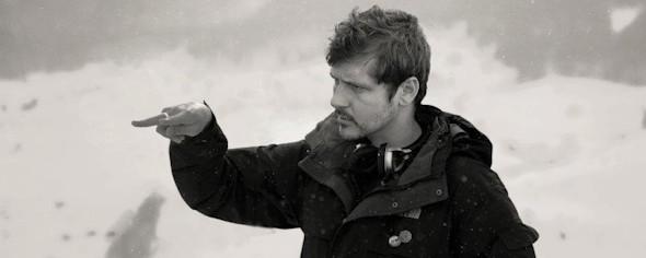 Kike Maíllo durante el rodaje de Eva en Suiza